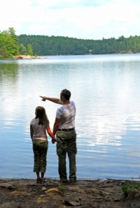 Father Daughter Lake